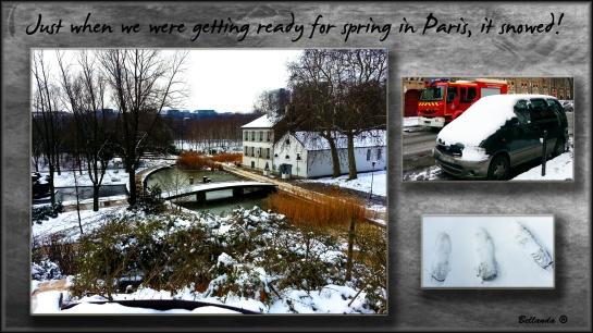 Paris Snow in March 2013 - Photos/Graphics by Bellanda ®