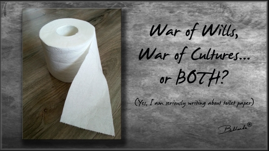 Seems like an ordinary roll of toilet paper, but beware of its consequences! Photo/Graphics by Bellanda ®