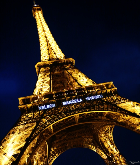 Paris lights the sky in honor of Nelson Mandela Bellanda ®