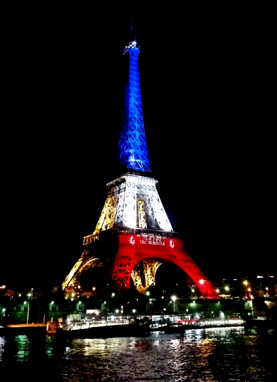 Eif Tower Blue White Red