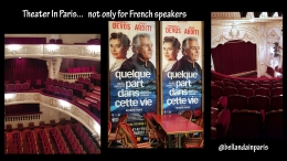 French Theater in Paris… luckily, it's not just for French speakers anymore!